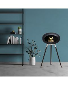 Ground Wood High Negra | patas de roble negro | bowl stainless steel